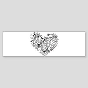 Skull Heart Sticker (Bumper)
