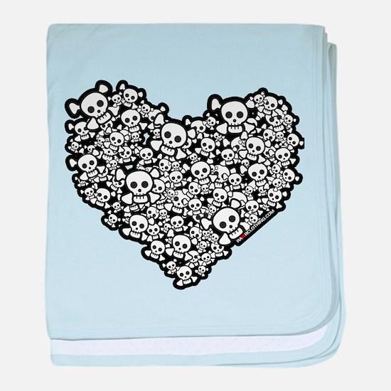 Cute Skull Hearts baby blanket