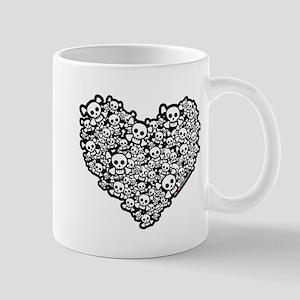 Cute Skull Hearts Mug