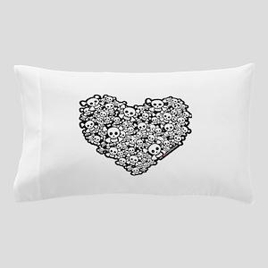 Cute Skull Hearts Pillow Case