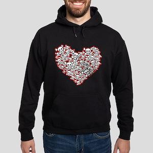 Pirate Skull Heart Hoodie (dark)