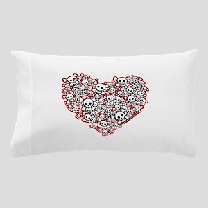 Pirate Skull Heart Pillow Case
