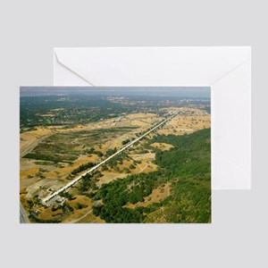 Aerial photo of SLAC linear accelerator - Greeting