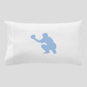 Light Blue Baseball Catcher Pillow Case