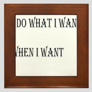 I DO WHAT I WANT Framed Tile
