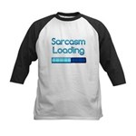 Sarcasm Loading Kids Baseball Jersey