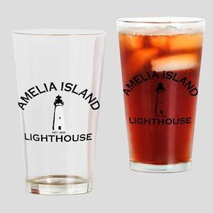 Amelia Island - Lighthouse Design. Drinking Glass