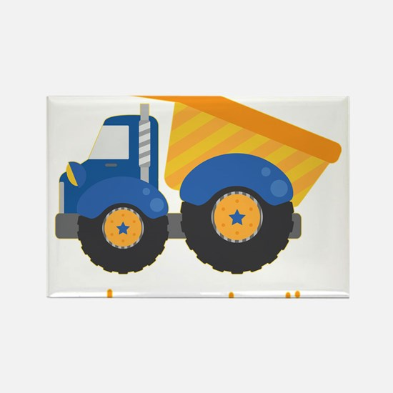 Under Construction Blue Truck Rectangle Magnet