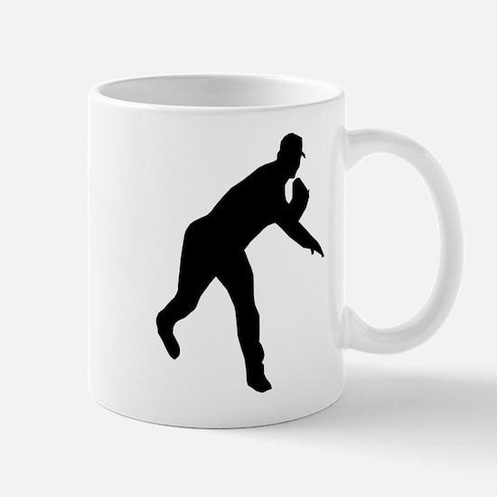 Baseball Pitcher Shadow Mug