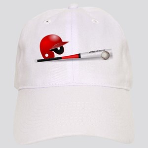 Baseball Bat and Helmet Cap
