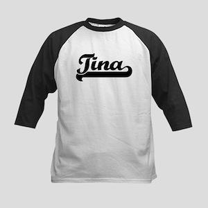 Black jersey: Tina Kids Baseball Jersey