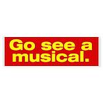 """Gee See A Musical"" Bumper Sticker"