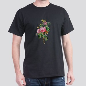 Cabbage Rose Drawn From Nature Dark T-Shirt