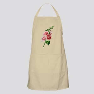 Hollyhocks Drawn From Nature Apron