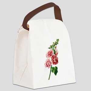 Hollyhocks Drawn From Nature Canvas Lunch Bag