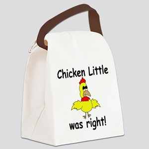 Chicken Little Was Right Canvas Lunch Bag