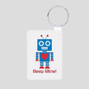 Beep Mine Robot Aluminum Photo Keychain