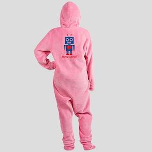 Beep Mine Robot Footed Pajamas