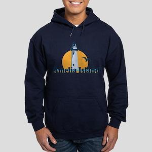 Amelia Island - Lighthouse Design. Hoodie (dark)