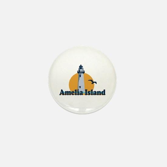 Amelia Island - Lighthouse Design. Mini Button
