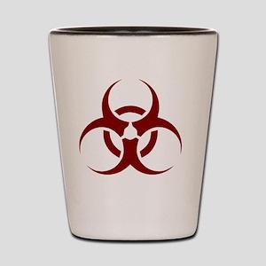 biohazard outbreak design Shot Glass