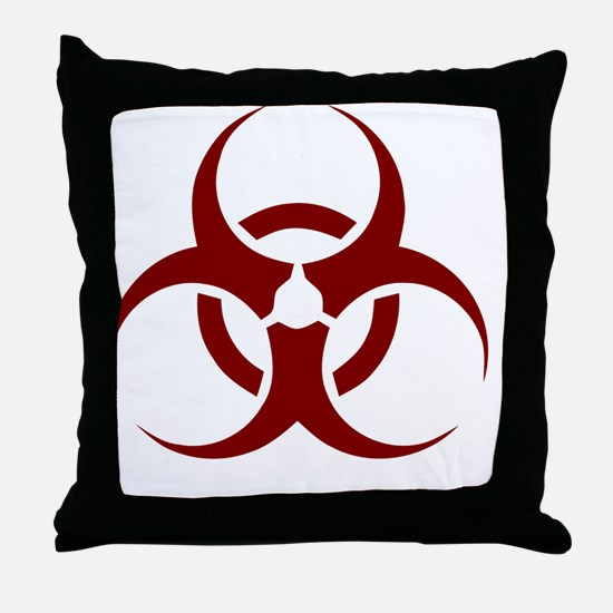 biohazard outbreak design Throw Pillow