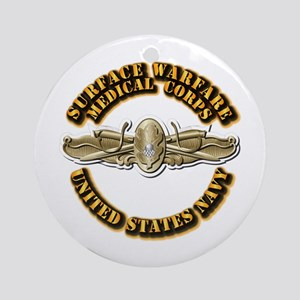 Navy - Surface Warfare - MC Ornament (Round)