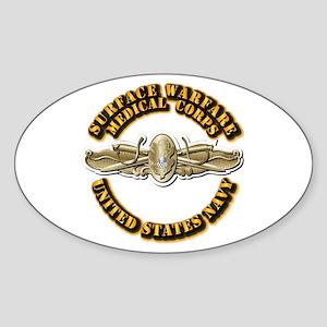 Navy - Surface Warfare - MC Sticker (Oval)
