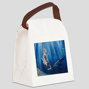Mermaid Adventure Canvas Lunch Bag