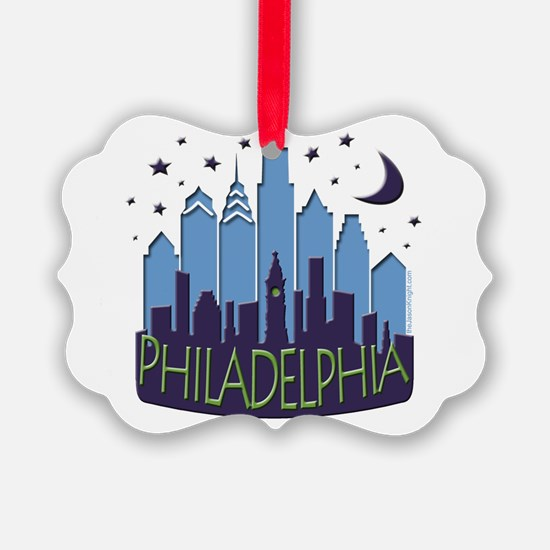 Philly Skyline Mega Cool Ornament