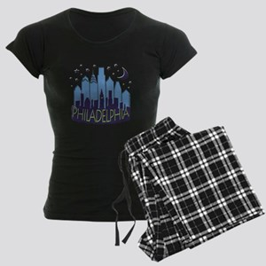 Philly Skyline Mega Cool Women's Dark Pajamas