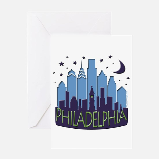 Philly Skyline Mega Cool Greeting Card