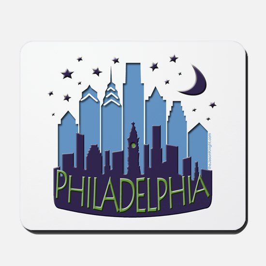 Philly Skyline Mega Cool Mousepad