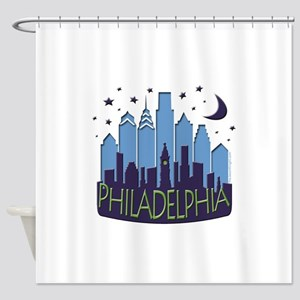 Philly Skyline Mega Cool Shower Curtain