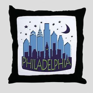 Philly Skyline Mega Cool Throw Pillow