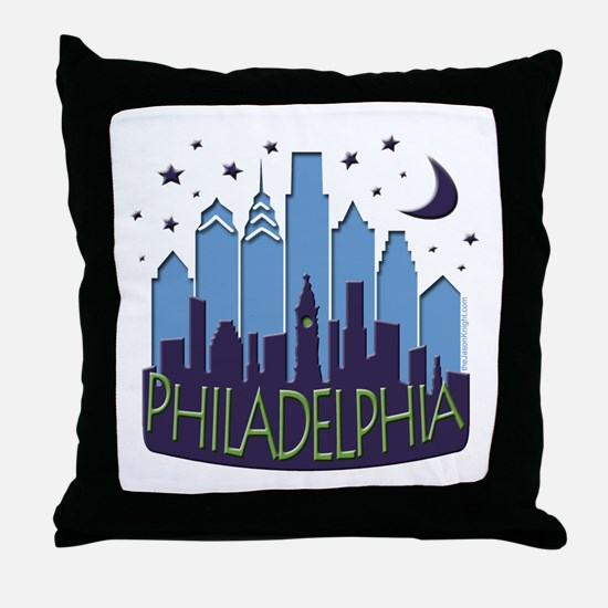 Philly Skyline Mega Cool Throw Pillow