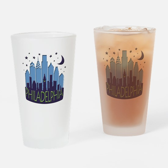 Philly Skyline Mega Cool Drinking Glass