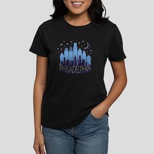 Philly Skyline Mega Cool Women's Dark T-Shirt