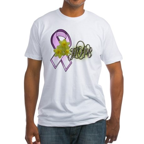 HOPE - Breast Cancer Awarenes Fitted T-Shirt