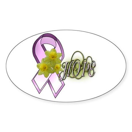 HOPE - Breast Cancer Awarenes Oval Sticker