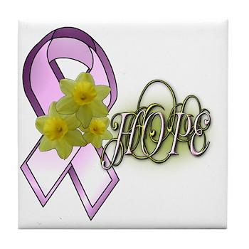 HOPE - Breast Cancer Awarenes Tile Coaster