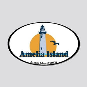 Amelia Island - Lighthouse Design. 20x12 Oval Wall