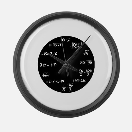 Cute Math geek Large Wall Clock