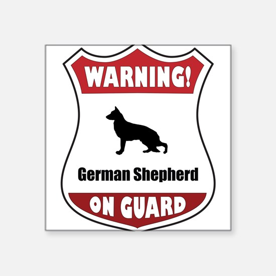 Shepherd On Guard Rectangle Sticker