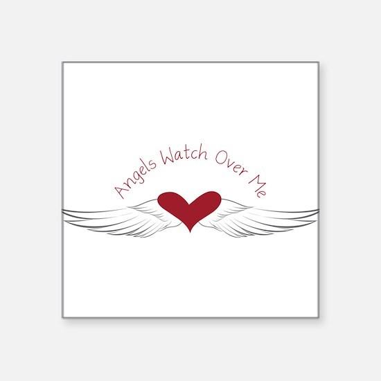 """Angels Watch Square Sticker 3"""" x 3"""""""
