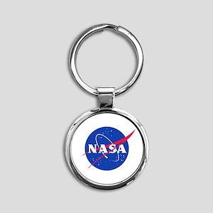 NASA Round Keychain