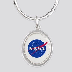 NASA Silver Oval Necklace
