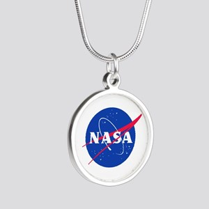 NASA Silver Round Necklace