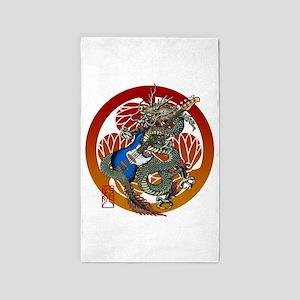 Dragon Bass 02 3'x5' Area Rug