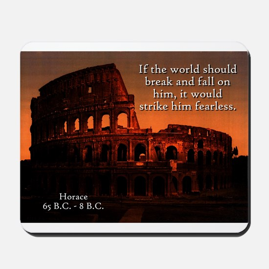 If The World Should Break - Horace Mousepad